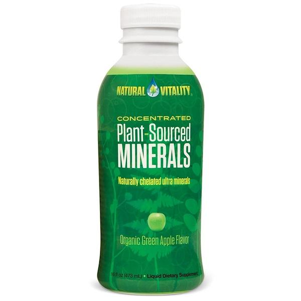 Natural Vitality, Plant-Sourced Minerals, Organic Green Apple Flavor, 16 fl oz (473 ml) (Discontinued Item)