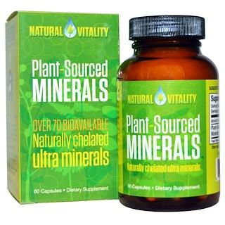 Natural Vitality, プラント・ソース ミネラルズ™, 60 カプセル