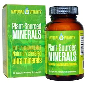 Натурал Виталити, Plant-Sourced Minerals, 60 Capsules отзывы