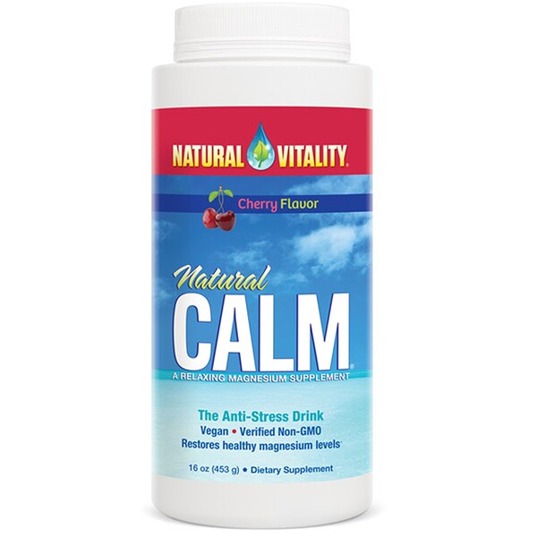 Natural Calm, The Anti-Stress Drink, Cherry Flavor, 16 oz (453 g)