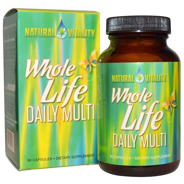 Natural Vitality, Полноценная жизнь, Мультивитаминый комплекс на каждый день, 90 капсул (Discontinued Item)