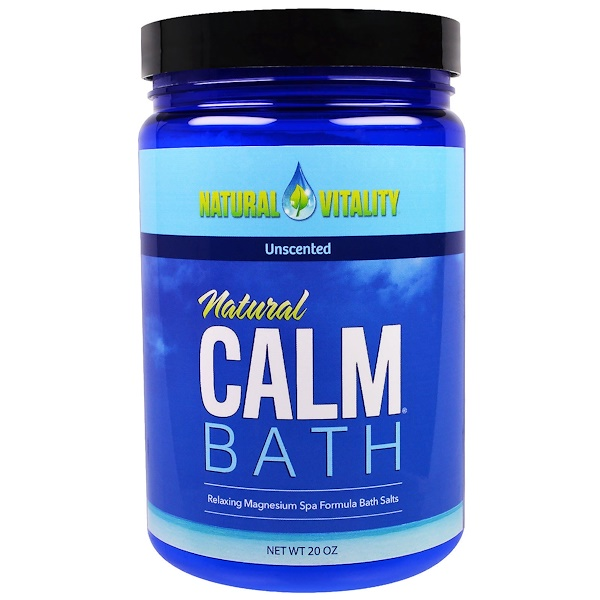 Natural Vitality, Natural Calm Bath, Unscented, 20 oz (Discontinued Item)
