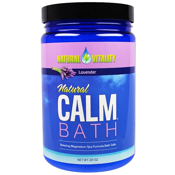 Natural Vitality, Natural Calm Bath, Lavender, 20 oz (Discontinued Item)