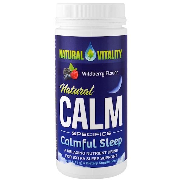 Natural Vitality, Natural Calm,安靜睡眠,野草莓風味,4盎司(113克)