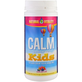 Natural Vitality, Calm Specifics, Kids, Calm-Focus Drink Mix, Natural Berry, 4 oz (113 g)