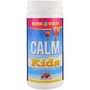 Натурал Виталити, Calm Specifics, Kids, Calm-Focus Drink Mix, Natural Berry, 4 oz (113 g) отзывы покупателей