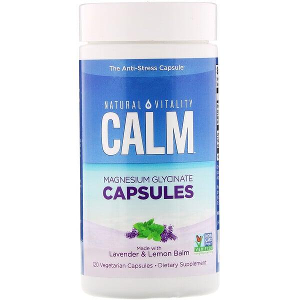 Calm, Magnesium Glycinate Capsules, 120 Vegetarian Capsules