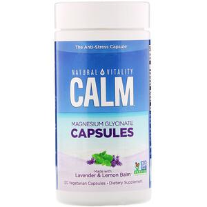 Natural Vitality, Calm, Magnesium Glycinate Capsules, 120 Vegetarian Capsules