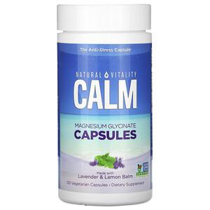 Натурал Виталити, Calm, Magnesium Glycinate Capsules with Lavender & Lemon Balm, 120 Vegetarian Capsules отзывы