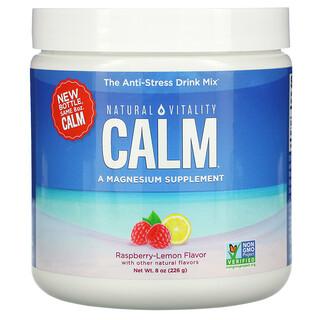 Natural Vitality, Calm, The Anti-Stress Drink Mix, Raspberry-Lemon, 8 oz (226 g)