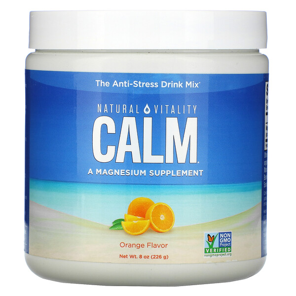 CALM, The Anti-Stress Drink, Orange, 8 oz (226 g)