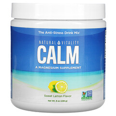 Natural Vitality, CALM,抗壓飲品,覆盆子檸檬味,8 盎司(226 克)