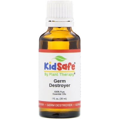 Plant Therapy KidSafe, 100% Pure Essential Oil, Germ Destroyer, 1 fl oz (30 ml)