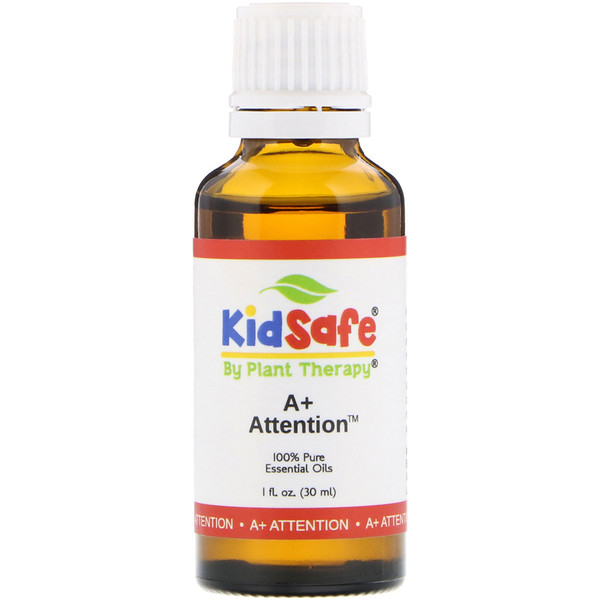 Plant Therapy, KidSafe, 100% Pure Essential Oil, A+ Attention, 1 fl oz (30 ml) (Discontinued Item)