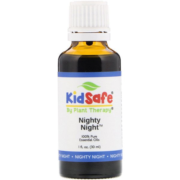 Plant Therapy, KidSafe, 100 % aceites puros esenciales, noche nocturna, 1 fl oz (30 ml) (Discontinued Item)