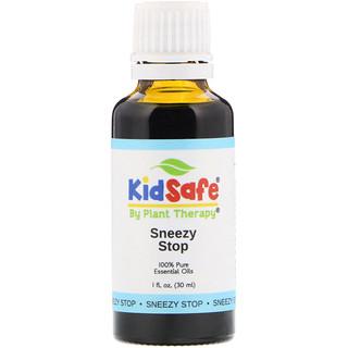 Plant Therapy, KidSafe、100%ピュアエッセンシャルオイル、くしゃみどめ、1 fl oz (30 ml)