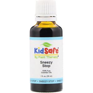Plant Therapy, KidSafe, 100% Pure Essential Oils, Sneezy Stop, 1 fl oz (30 ml) отзывы