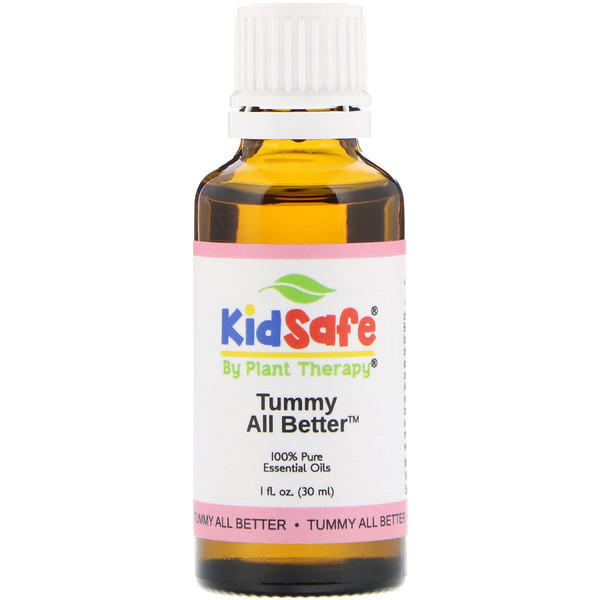 KidSafe, 100% Pure Essential Oils, Tummy All Better, 1 fl oz (30 ml)