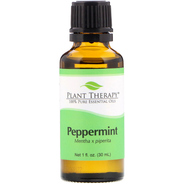 Plant Therapy, 100% Pure Essential Oils, Peppermint, 1 fl oz (30 ml) (Discontinued Item)