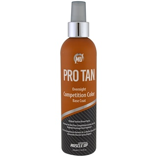 Pro Tan USA, Overnight Competition Color Base Coat, with Applicator, 8.5 fl oz (250 ml)
