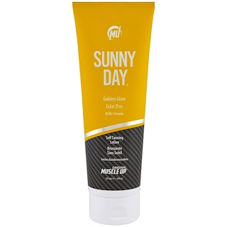 Pro Tan USA, Sunny Day, Golden Glow Self Tanning Lotion, Step 2, 8 fl oz (237 ml)