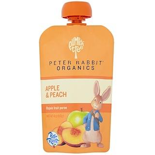 Pumpkin Tree Snacks, Peter Rabbit Organics, Organic Fruit Puree, Apple & Peach, 4 oz (113 g)