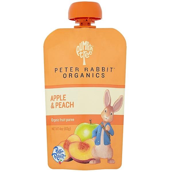 Pumpkin Tree Snacks, Peter Rabbit Organics, Organic Fruit Puree, Apple & Peach, 4 oz (113 g) (Discontinued Item)