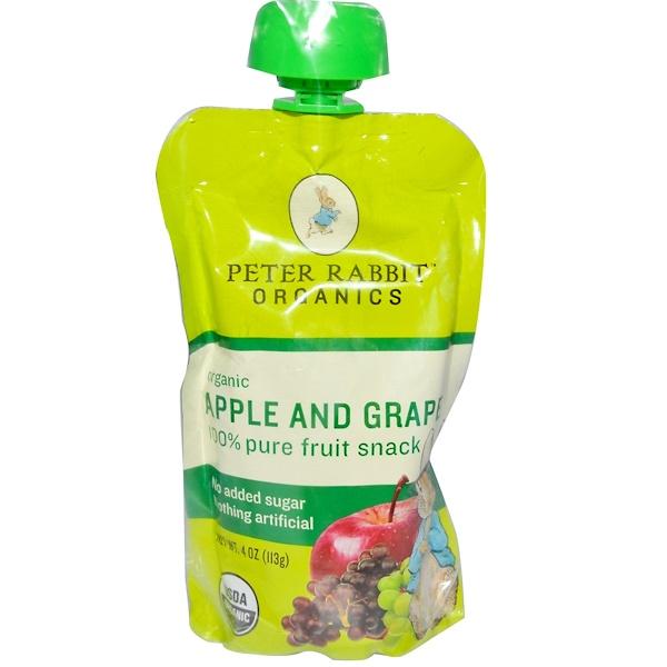 Pumpkin Tree Snacks, 100% чистая фруктовая закуска, яблоко и виноград 4 унции (113 г) (Discontinued Item)