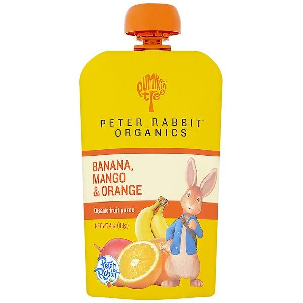 Pumpkin Tree Snacks, Peter Rabbit Organics, Organic Fruit Puree, Banana, Mango & Orange, 4 oz (113 g) (Discontinued Item)