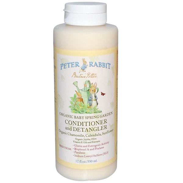 Peter Rabbit-Organic Baby Spring Garden, Conditioner and Detangler, Organic Chamomile, Calendula, Sunflower, 12 fl oz (350 ml) (Discontinued Item)