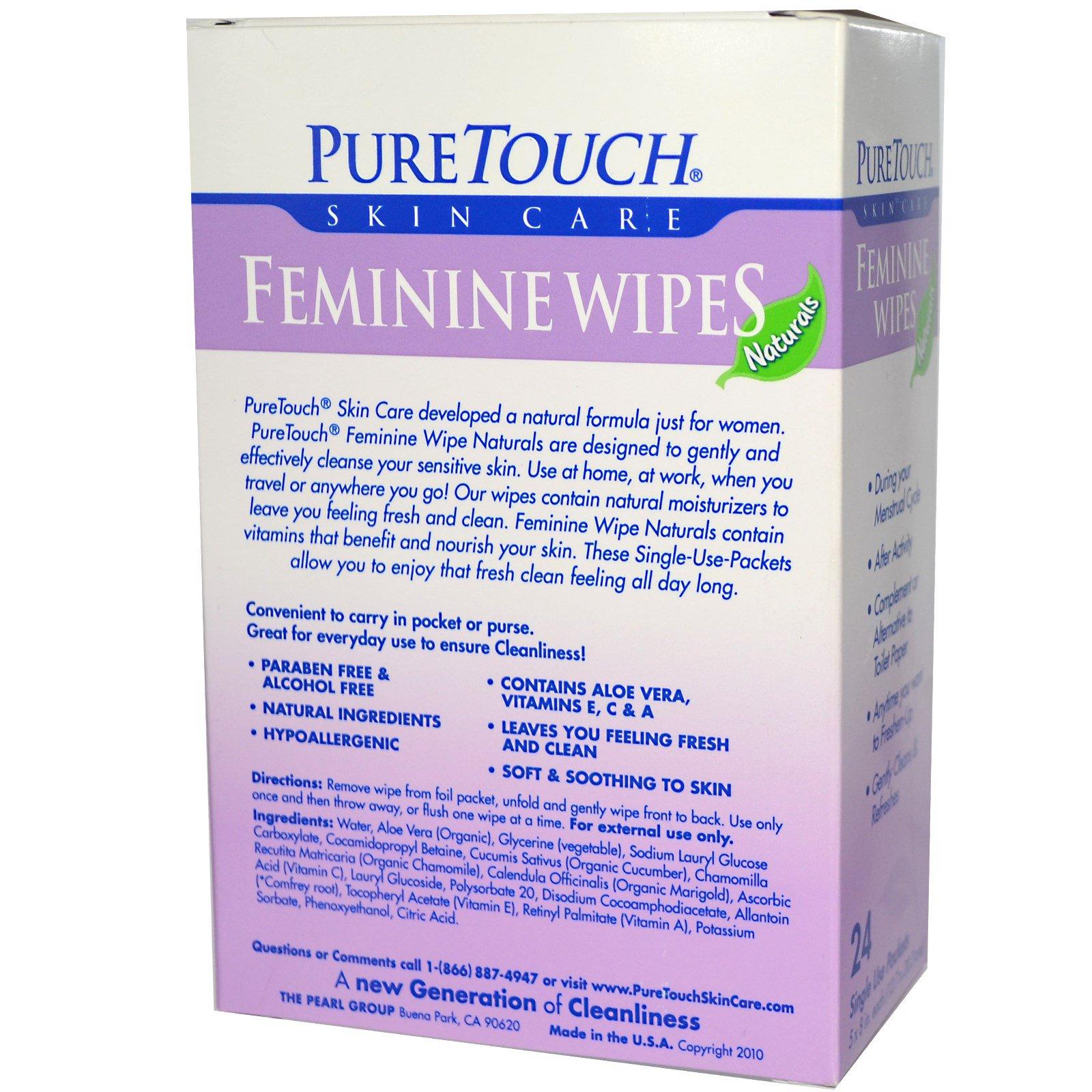 PureTouch Skin Care, Женские салфетки, 24 одноразовых пакета