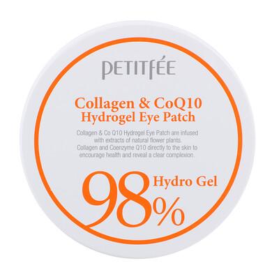 Купить Petitfee Патчи для глаз с коллагеном и гидрогелем CoQ10, 60 шт, 1, 4 г каждый
