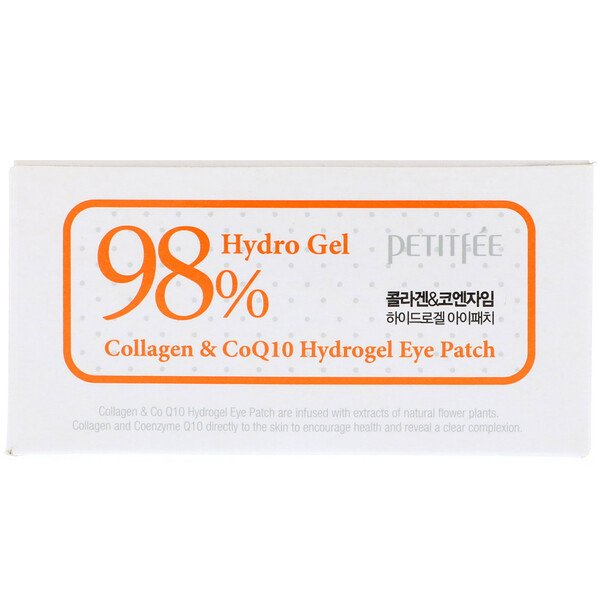 Petitfee, Collagen & CoQ10 Hydrogel Eye Patch, 60 Patches, 1.4 g Each