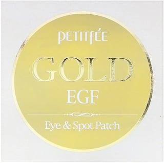 Petitfee, Gold & EGF, parche para ojos e imperfecciones, 60 parches para ojos / 30 parches para imperfecciones