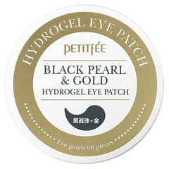 Petitfee, 黑珍珠 + 金箔水凝膠眼膜,60 片