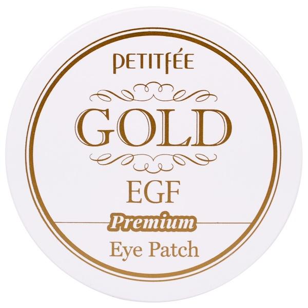 Petitfee, Gold EGF, патчи для глаз на основе гидрогеля, 60 штук (Discontinued Item)