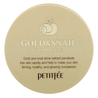 Petitfee, Gold & Snail Hydrogel Eye Patch, 60 Pieces