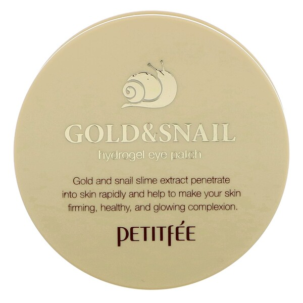 Gold & Snail Hydrogel Eye Patch, 60 Pieces