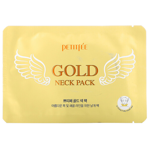 Petitfee, Gold Neck Pack, 5 Sheets, 10 g Each (Discontinued Item)