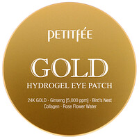 Petitfee, Gold Hydrogel Eye Patch, 60 Unidades