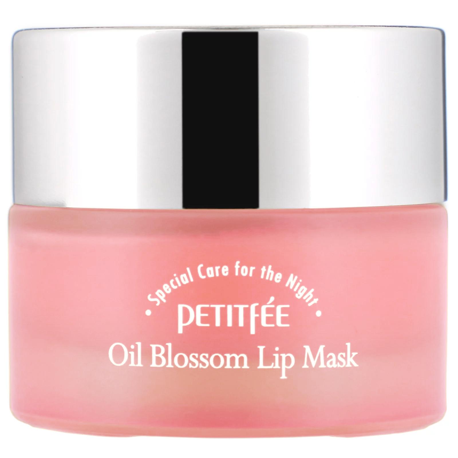 Petitfee, Oil Blossom, маска для губ, масло из семян камелии, 15 г
