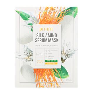 Petitfee, Silk Amino Serum Beauty Mask, 10 Masks, 25 g Each