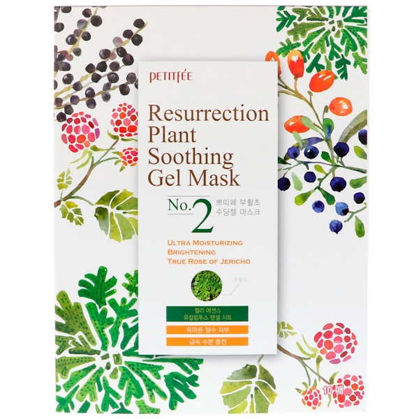 Resurrection Plant Soothing Gel Mask, 10 Sheets, 30 g Each