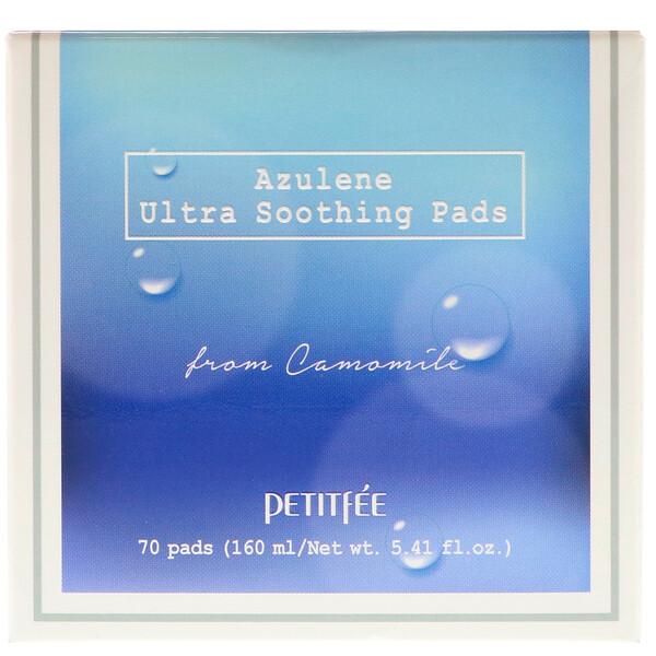 Petitfee, Azulene Ultra Soothing Pads, 70 Pads