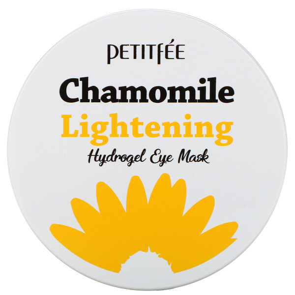 Petitfee, Chamomile Lightening, Hydrogel Eye Mask, 30 Pairs
