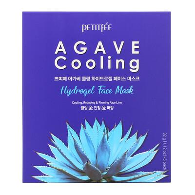 Купить Petitfee Agave Cooling, гидрогелевая маска для лица, 5шт. по 32г (1, 12унции)