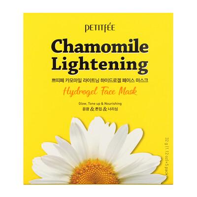 Купить Petitfee Chamomile Lightening, гидрогелевая маска для лица, 5 листов, весом 32 г (1, 12 унции) каждый