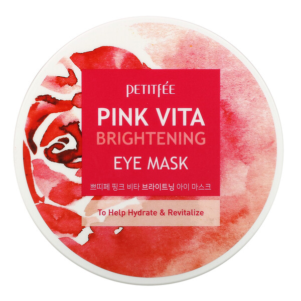 Pink Vita Brightening Eye Mask, 60 Pieces