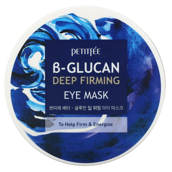 Petitfee, B-Glucan Deep Firming Eye Mask, 60 Pieces (70 g)