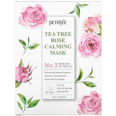 Купить Petitfee Tea Tree Rose Calming Beauty Mask, No. 3, 10 Sheets, 25 g Each